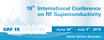 19th International Conference on RF Superconductivity (SRF2019) logo
