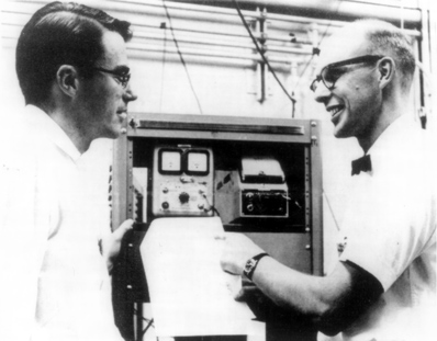 Richard Hake (left) and Ted Berlincourt (right) July 1961